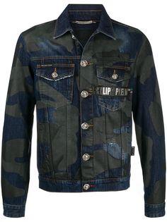Philipp Plein джинсовая куртка с камуфляжным принтом