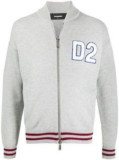 Dsquared2 бомбер на молнии с логотипом D2