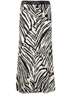 Calvin Klein юбка с зебровым принтом