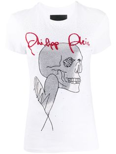 Philipp Plein футболка Love Plein с декором Skull
