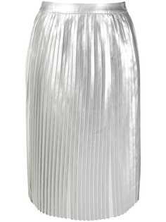 Calvin Klein Jeans плиссированная юбка с эффектом металлик