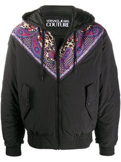 Versace Jeans Couture куртка с капюшоном и принтом Paisley Leopard