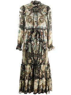 Etro платье с ярусными оборками