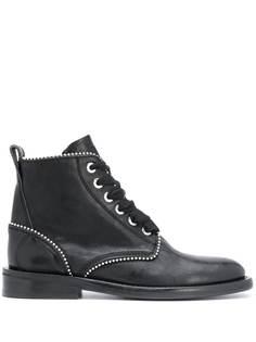 Zadig&Voltaire ботинки на шнуровке с заклепками