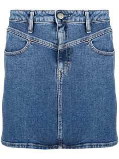 Calvin Klein Jeans джинсовая юбка мини с вышитым логотипом