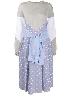 SJYP расклешенное платье со вставками