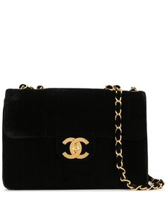 Chanel Pre-Owned сумка на плечо Jumbo 1995-го года с ремнем-цепочкой