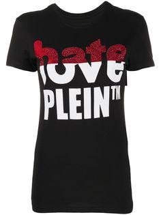 Philipp Plein футболка Love Plein со стразами и логотипом