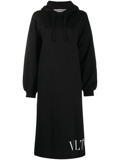 Valentino платье-худи с логотипом VLTN