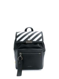 Off-White маленький рюкзак с диагональными полосками