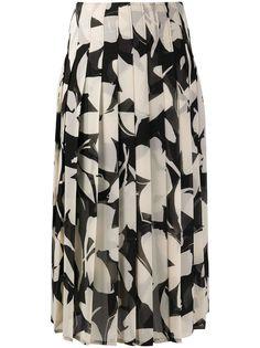 Calvin Klein плиссированная юбка с цветочным принтом