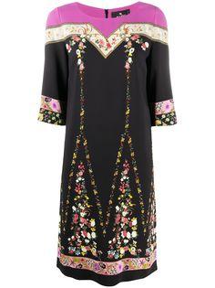 Etro платье с цветочной вышивкой