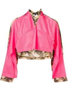 Comme Des Garçons Pre-Owned укороченная куртка с камуфляжным принтом