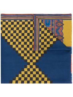 Etro шарф Paisley с контрастным принтом
