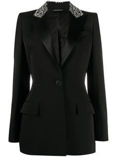 Givenchy блейзер с вышивкой на воротнике