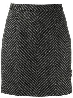 Off-White юбка мини в диагональную полоску