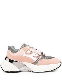 Pinko двухцветные кроссовки на шнуровке