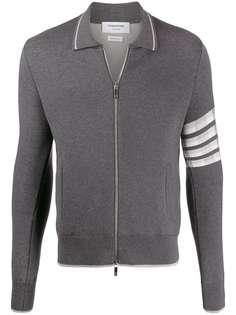 Thom Browne куртка с воротником и полосками 4-Bar