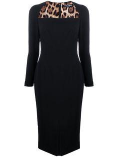 Dolce & Gabbana приталенное платье миди