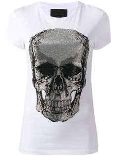 Philipp Plein футболка с принтом Skull