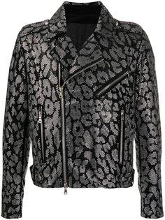 Balmain декорированная байкерская куртка