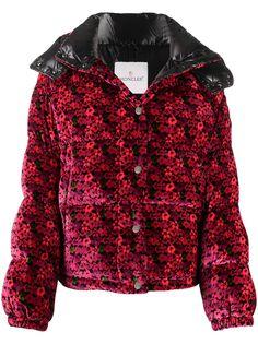 Moncler куртка-пуховик с цветочным принтом