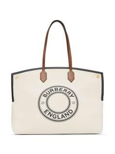 Burberry сумка-тоут Society с логотипом