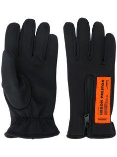 Heron Preston перчатки на молнии с нашивкой-логотипом