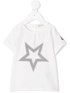 Moncler Kids футболка с принтом