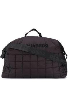 Dsquared2 стеганая дорожная сумка с логотипом
