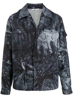 Valentino джинсовая куртка с принтом