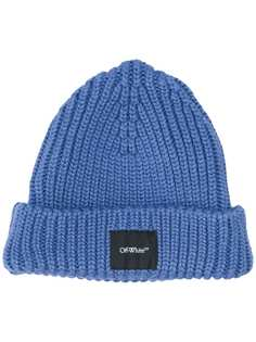Off-White шапка бини с нашивкой-логотипом
