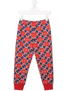 Gucci Kids спортивные брюки с логотипом Interlocking G