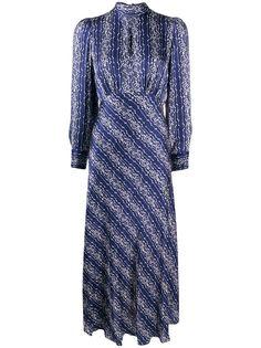 Sandro Paris платье миди с геометричным принтом