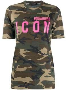 Dsquared2 футболка Icon с камуфляжным принтом