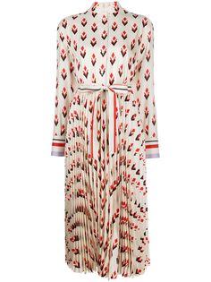 Valentino платье-рубашка с геометричным принтом и длинными рукавами