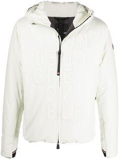 Moncler Grenoble куртка с капюшоном и тисненым логотипом