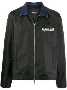 Dsquared2 куртка-рубашка с логотипом