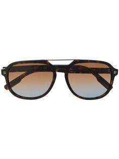 Ermenegildo Zegna солнцезащитные очки в массивной оправе