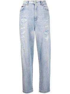 Dolce & Gabbana джинсы бойфренды с эффектом потертости