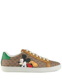 Gucci кеды Ace из коллаборации с Disney