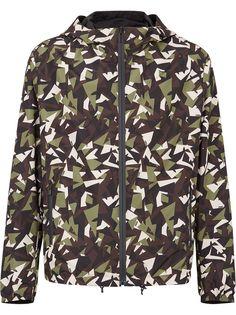 Fendi двусторонняя куртка K-Way с камуфляжным принтом