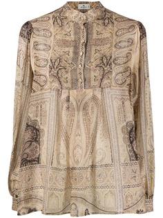Etro рубашка на пуговицах с принтом пейсли