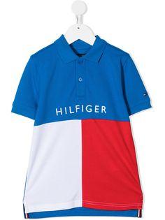 Tommy Hilfiger Junior рубашка поло в стиле колор-блок