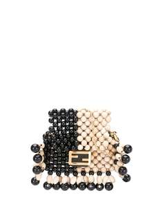 Fendi мини-сумка с логотипом FF
