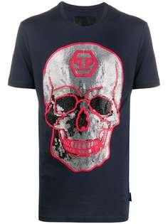 Philipp Plein футболка со стразами