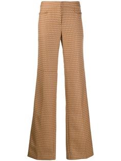 Stella McCartney брюки прямого кроя с абстрактным принтом