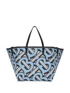 Burberry пляжная сумка-тоут размера мини с монограммой