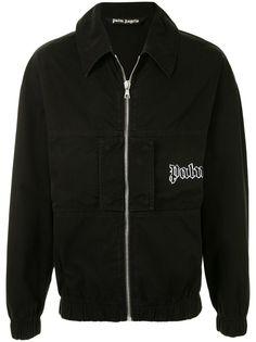 Palm Angels куртка-рубашка на молнии с логотипом