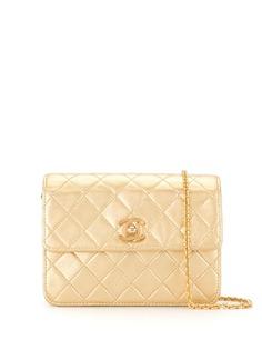 Chanel Pre-Owned стеганая сумка на плечо 1990-х годов с логотипом СС